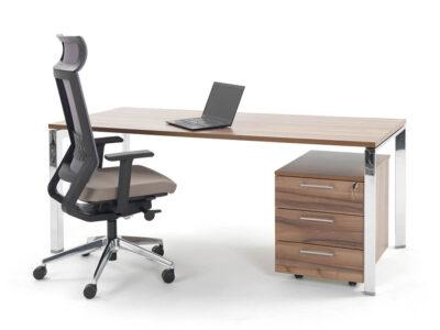 Ello Simple Executive Desk With Chrome Legs3