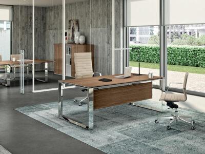 Enrique 1 Sleek Loop Ring Leg Executive Desk