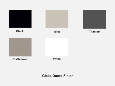 Glass Doors Finish Futura Storage Unit
