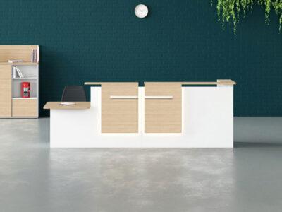 Greta Corner Reception Desk With Dda Approved Wheelchair Access Unit Main Image