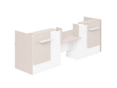 Greta Reception Desk With Center Dda Approved Wheelchair Access Unit And Side Panels 1