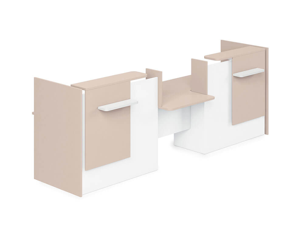 Greta Reception Desk With Center Dda Approved Wheelchair Access Unit And Side