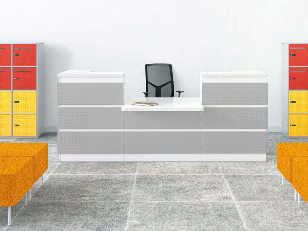 Guest Closed Sides Reception Desk With Dda Approved Wheelchair Access Unit Main Image