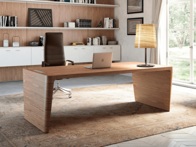 Henry 1 Wood Veneer Luxurious Executive Desk Main Image