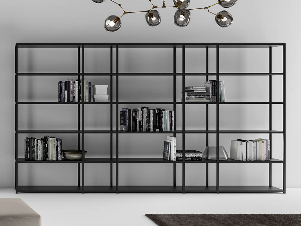 Hype High Aluminium Frame Bookcases With Laquared Shelves Main Image