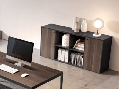 Hype Medium Level Wall Unit With Side Doors And Centeral 4 Open Element