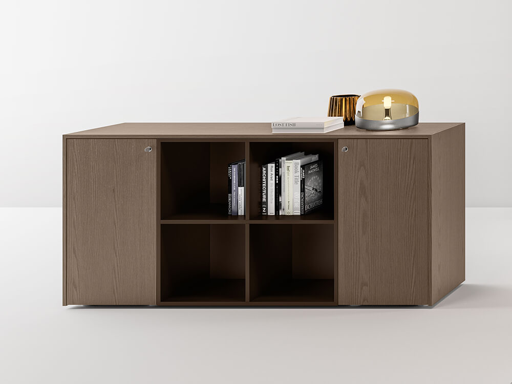 Hype Medium Level Wall Unit With Side Doors And Centeral 4 Open Element Mian Image