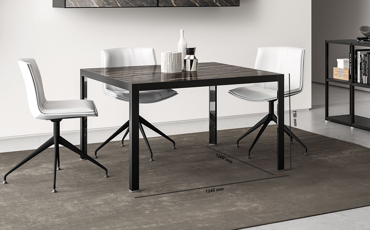 Hype Meeting Table With Laminam Top Dimension Image