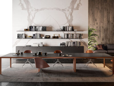 Hype Meeting Table With Leather Top 1