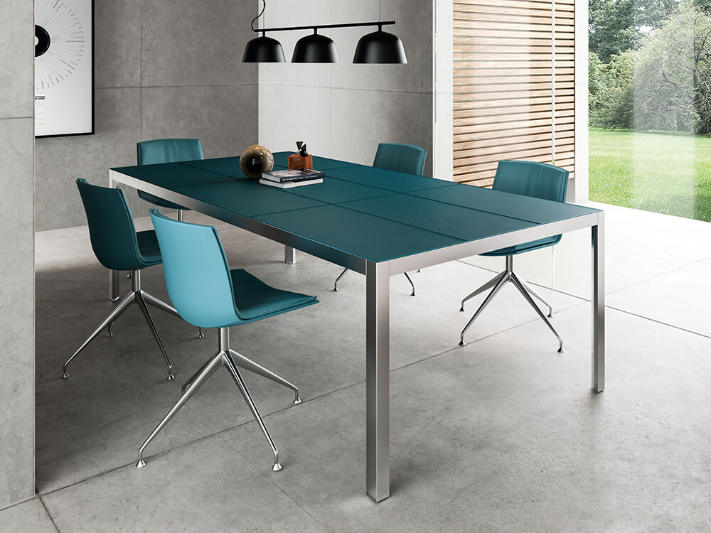 Hype Meeting Table With Leather Top Main Image