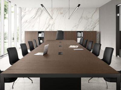 Hype Meeting Table With Wood Venee Top Main Image