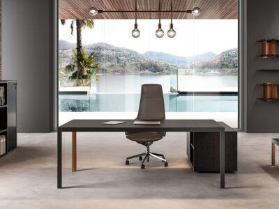 Hype Wood Veneer Top Executive Desk 1