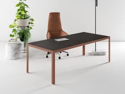 Hype Wood Veneer Top Executive Desk Main Image