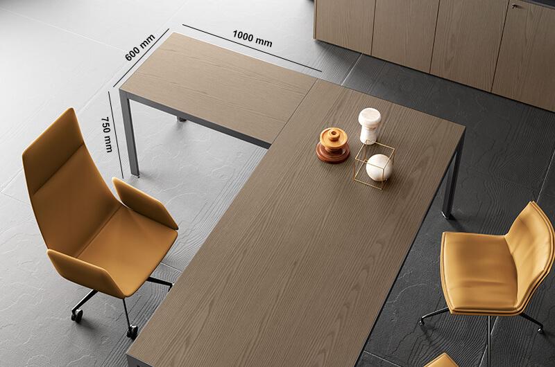 Hype Wood Veneer Top Executive Desk Perfect Adition