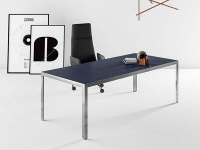 Hype Leather Top Executive Desk Main Image