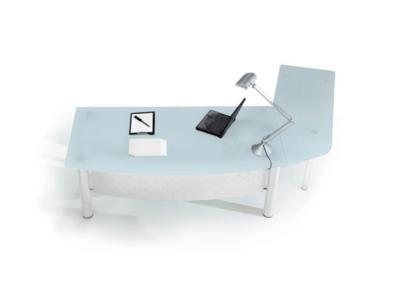 Jenny 2 Glass Top Radial Corner Desk1