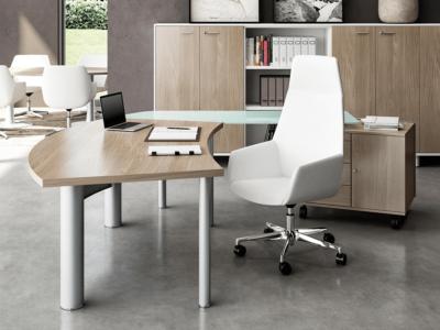Jenny Radial Corner Desk