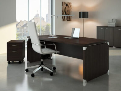 Linda 2 Wood Finish Front Rounded Executive Desk With Extension2