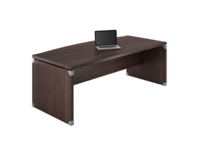 Linda 2 Wood Finish Front Rounded Executive Desk With Extension4