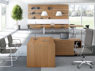 Oliver Grand Executive Desk With Optional Credenza Unit3