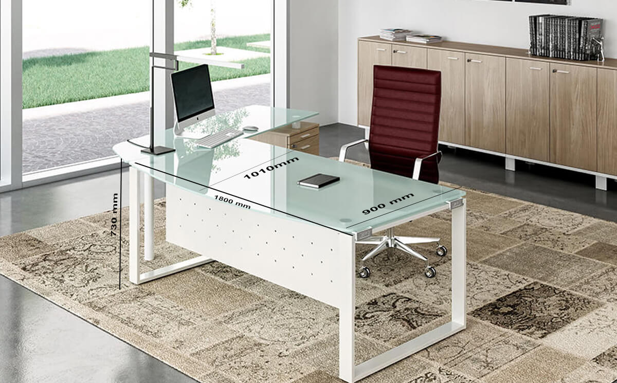 Size Bonnie 1 – Glass Top Ring Leg Executive Desk With Rounded Front (1)