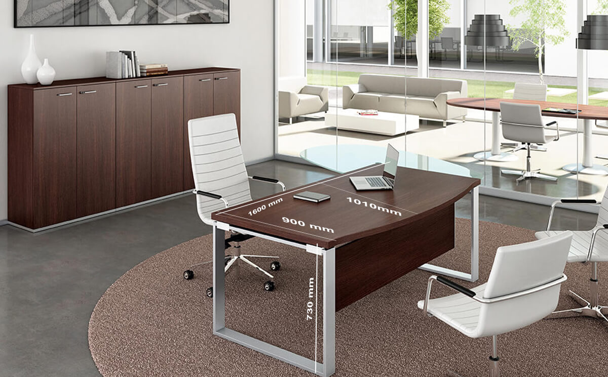 Size Bonnie 2 Wooden Top Ring Leg Executive Desk With Rounded Front (1)