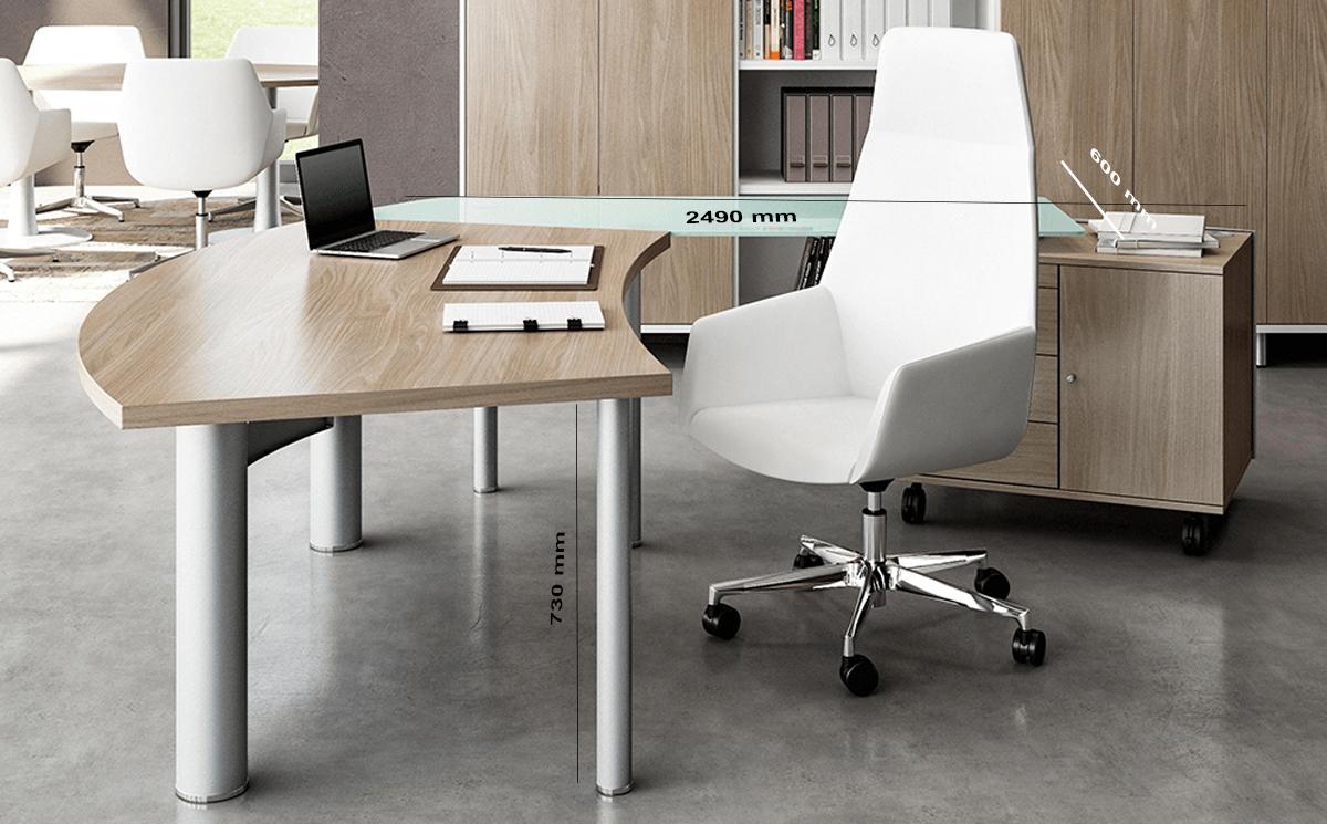 Size Return Jenny Radial Corner Desk