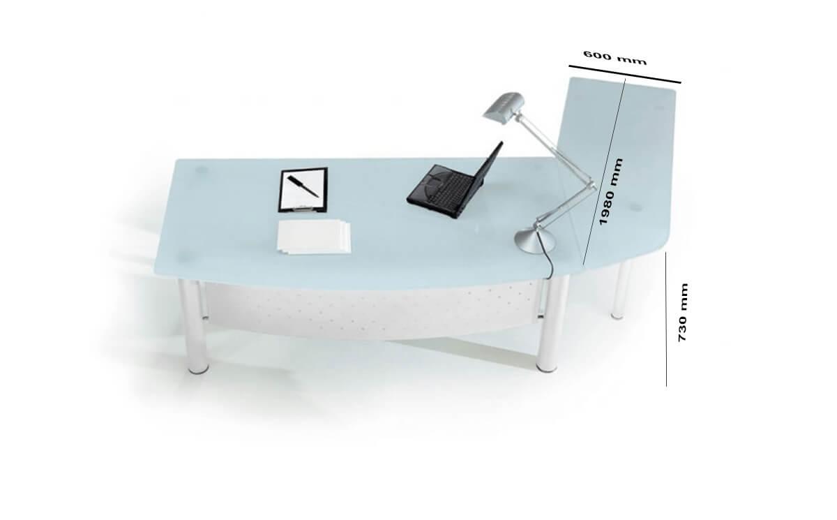 Size Returnjenny 2 Glass Top Radial Corner Desk Main