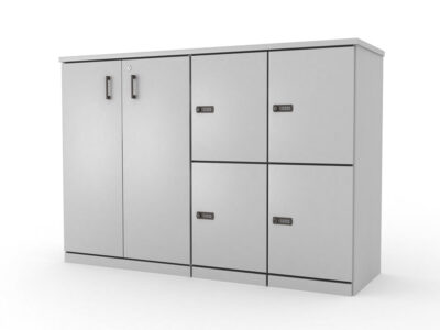 Stor Medium Storage With 4 Compartment And Cupboard
