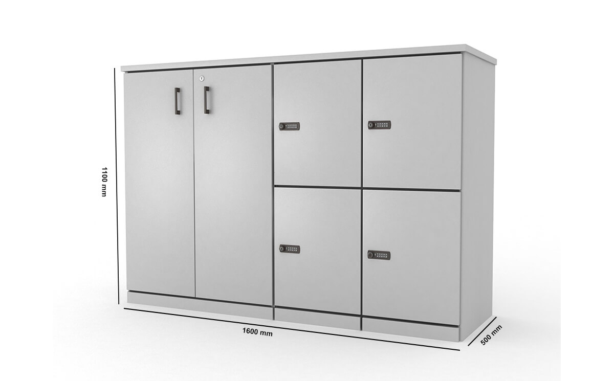 Stor Medium Storage With 4 Compartment And Cupboard Dimension Image