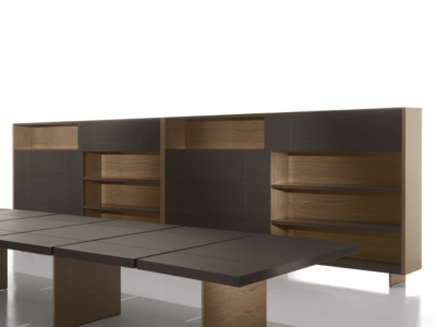Darcey Bookcase With Sliding Doors1
