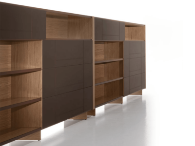 Darcey Bookcase With Sliding Doors2