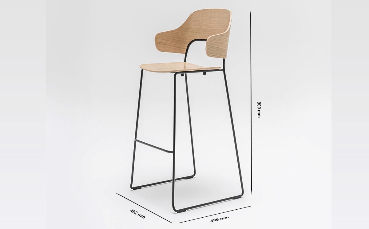 Size Fika – Modern Scandinavian High Stool & Bar Stool