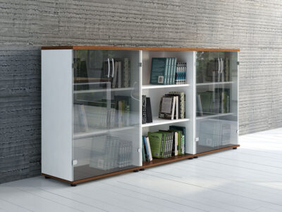 Bella Glass Doors Storage Unit