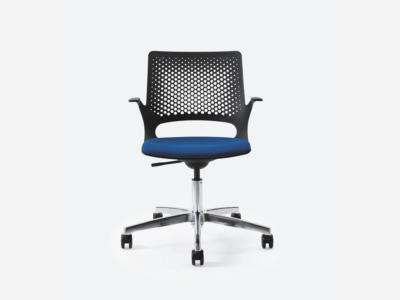 Groove Plastics Swivel Visitor Chair3