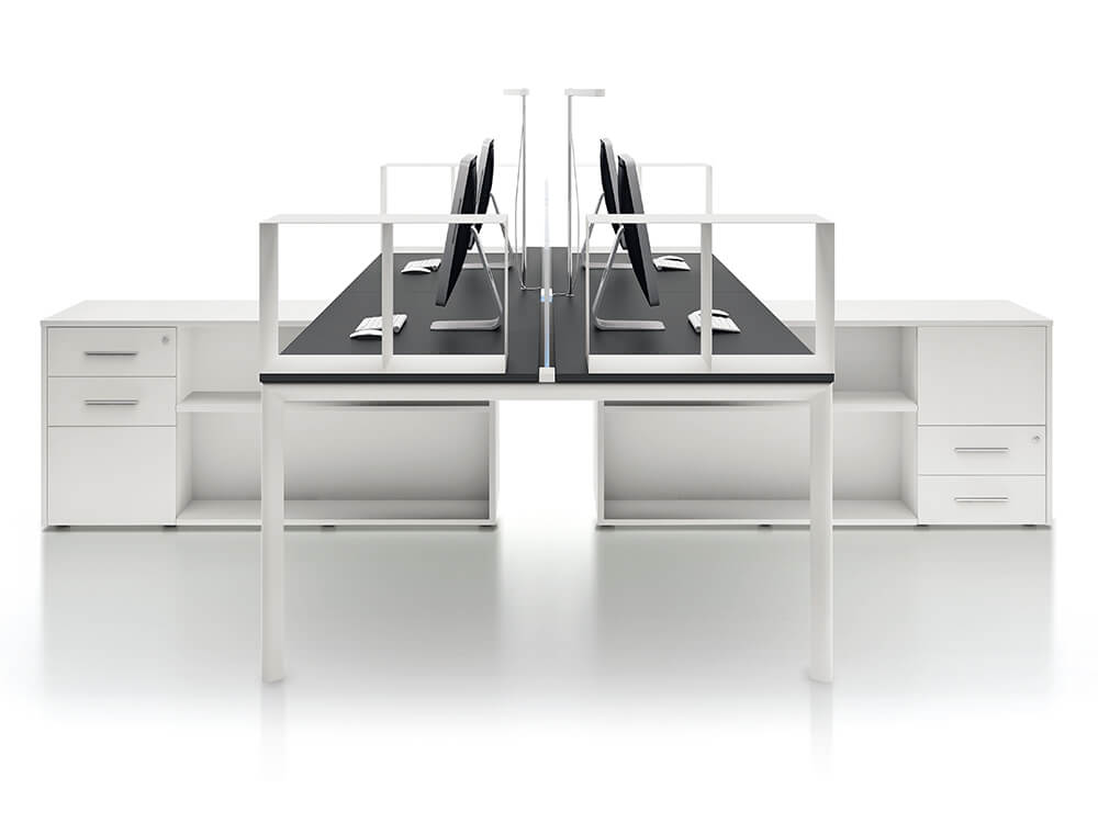 Lambert Comfortable Office Desk With Optional Credenza