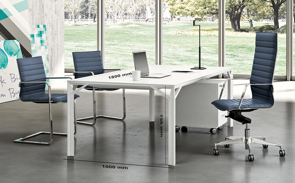 Size Albero 1 Executive Desk With Three Arm Corner