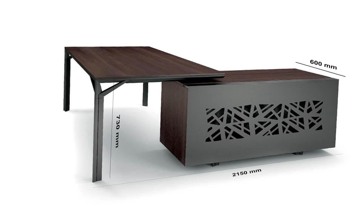Size Credenza Unit Albero 1 Executive Desk With Three Arm Corner