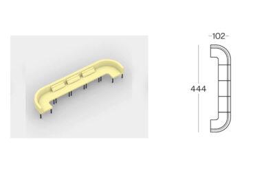 Size (lineare 1) Tour Modular Seating Sofa