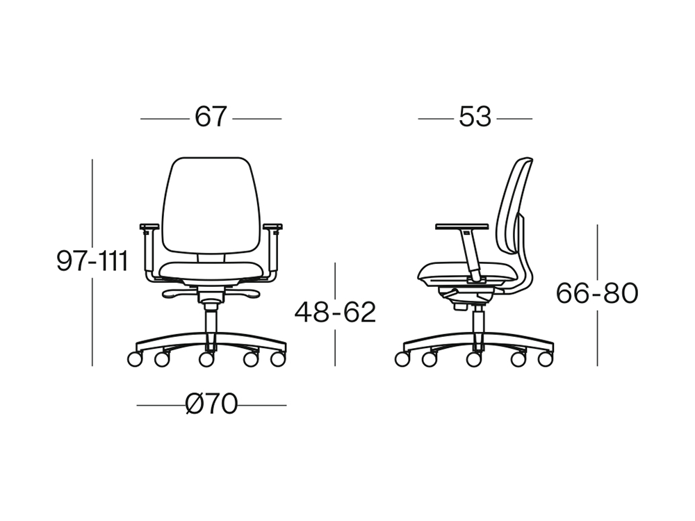 Size Moon Back Operative Chair