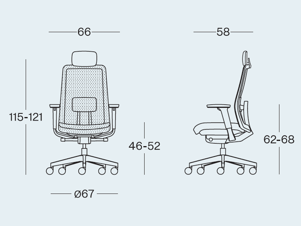 Size S Mesh Full Mesh Chair With Headrest