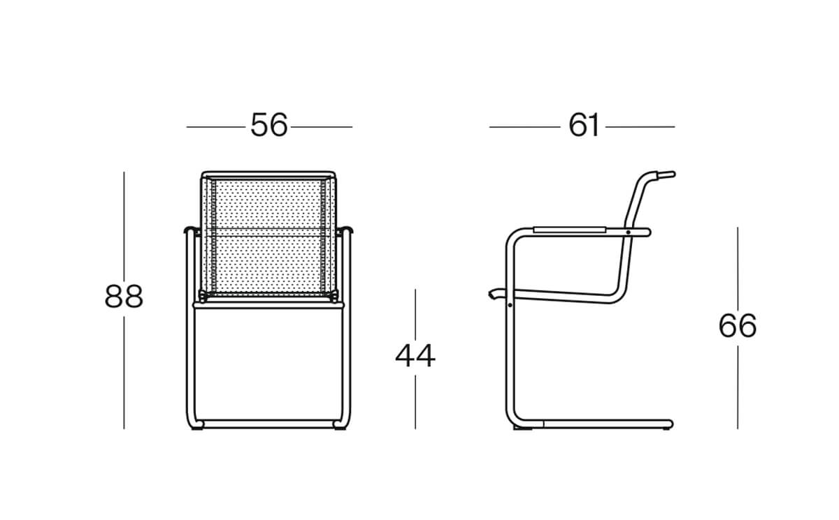 Size Spin Cantilever Mesh Visitor Chair