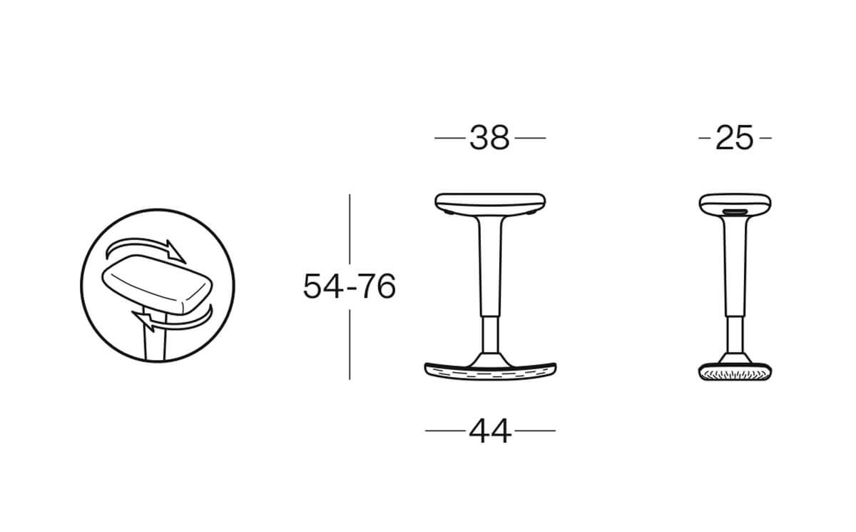Size Up Plastic Stool