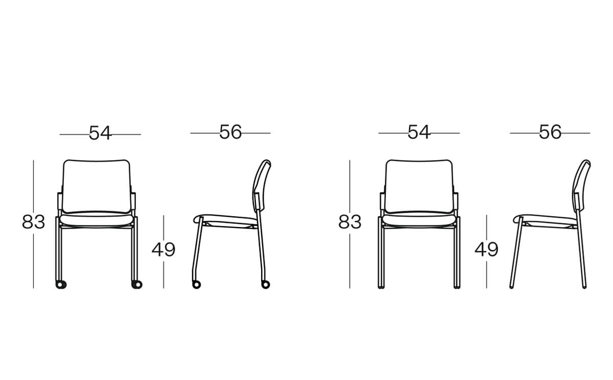 Size(padded Back) Maia Conference Chair