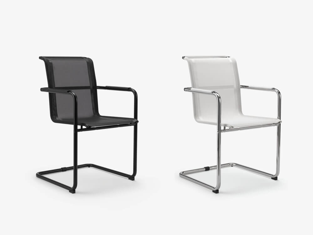 Spin Cantilever Mesh Visitor Chair