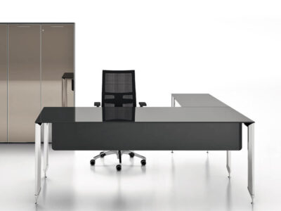 Tim Glass Top Executive Desk