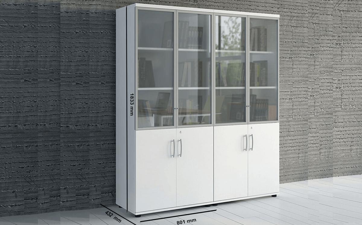 Size Bella Glass Doors Storage Unit