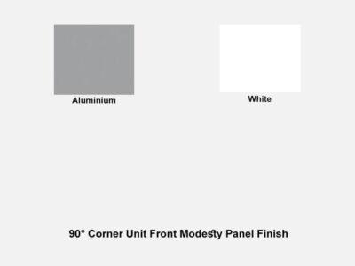 90° Corner Unit Front Modesty Panel Finish