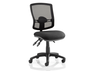 Alessa – Mesh Back Black Chair Without Arms