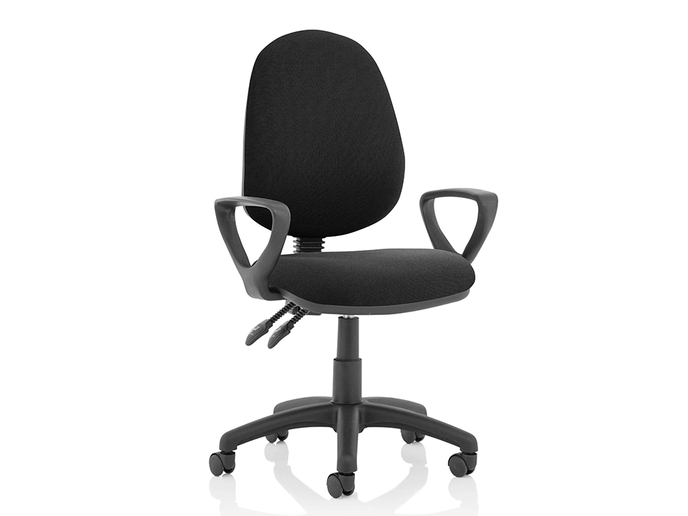 Allegra – High Back Black Fabric Operator Chair2